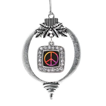 Peace Square Charm Holiday Ornament