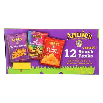 Annie's Homegrown Organic Snack Packs Variety Packs - 12 Bags
