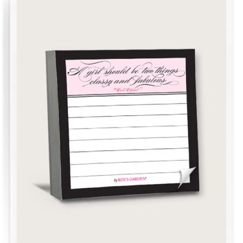 100-Page A Girl Should Be Two Things Classy Scribble-It Stickies Pad