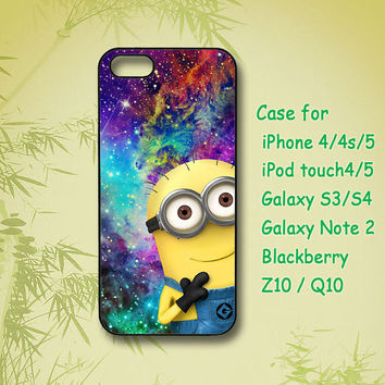 Despicable me,galaxy,Minion, iPhone 4 Case, iPhone 5 Case, ipod case, Samsung Galaxy S4, Samsung Galaxy S3,Samsung note 2,blackberry z10,Q10