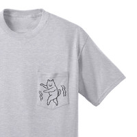 Dancing Dog pocket tee
