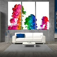 abstract wall art canvas print, colorful abstract print on canvas, extra large wall art, art canvas for large wall livingroom decor t287
