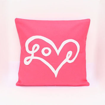 Love Pillow Cover in Fruit Punch