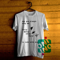 One Direction Song Truly Madly Deeply Crazy Love Birds Tshirt For Men / Women Shirt Color Tees