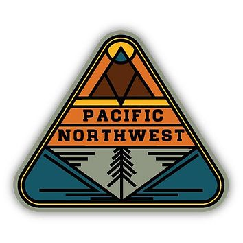PNW Triangle Sticker