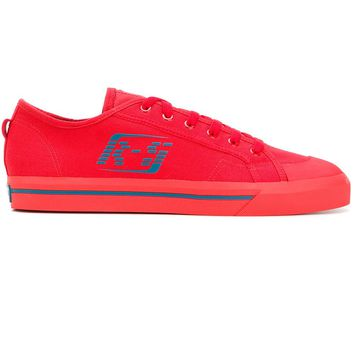 Red Canvas Sneakers by RAF SIMONS