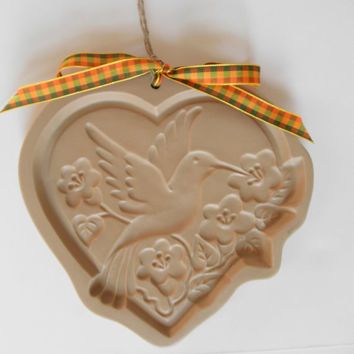Hummingbird Cookie Mold Brown Bag Cookie Art Retired Hill Design Cast Paper Greeting Cards Chocolate Mold Hummingbird Collector