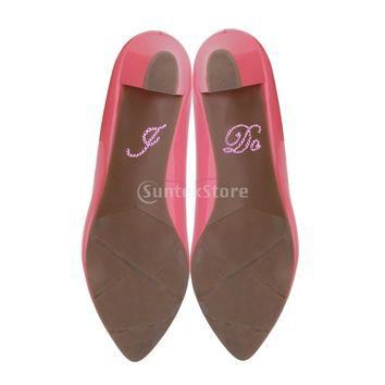 Pink I Do Theme Wedding Bridal Shoes Sticker