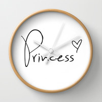 Princess Heart Wall Clock by RexLambo