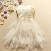 STRAPLESS DRESS-00