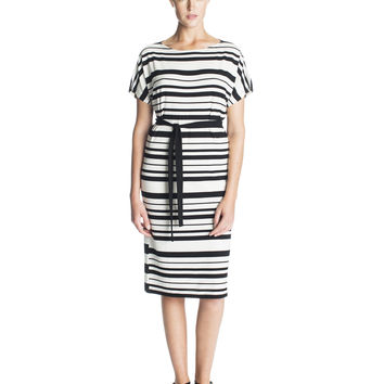 LORENZ MARIMEKKO DRESS BLACK/WHITE