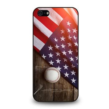 BASEBALL BALL AND FLAG iPhone 5 / 5S / SE Case