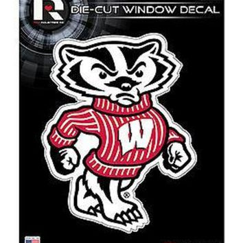 ONETOW Wisconsin Badgers MASCOT Edition 5' Flat Die Cut Decal Sticker University of