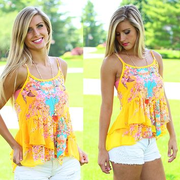 Sunny Day Blooms Top