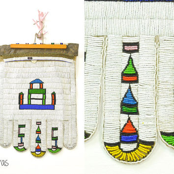Vintage Beadwork • Vintage Jocolo • Ndebele Beaded Apron • Itshogolo • South African • Bridal Ceremony • Beaded Tapestry • Tribal Artwork