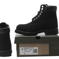 Timberland Rhubarb Boots All Black Waterproof Martin Boots
