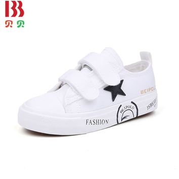 Fashion Casual Children Boy Sneakers Sport Toddler Anti-Slip Girl Kids Sneakers Children Star Flats Shoes 7233