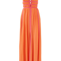 Nicole Miller Sunset Pink Gladiator Gown