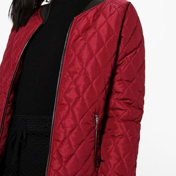 Alexis Quilted Bomber Jacket | Boohoo