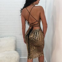 Cordelia sequined see through dress