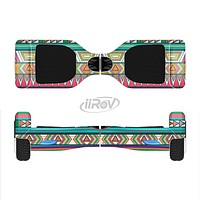 The Tribal Vector Green & Pink Abstract Pattern V3 Full-Body Skin Set for the Smart Drifting SuperCharged iiRov HoverBoard