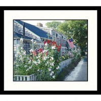 Great American Picture Nantucket, Massachusetts Cottage Patriotic Pride Framed Photograph - NE356