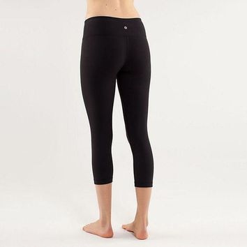 DCCKNQ2 Lululemon Wunder Under Crop Women Sport Leggings Pants Trousers-5