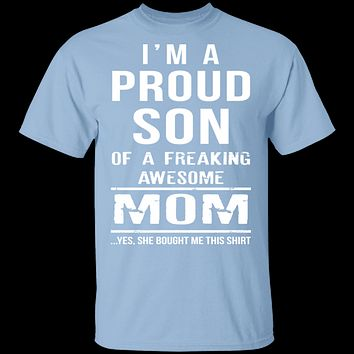 Proud Son Of An Awesome Mom T-Shirt