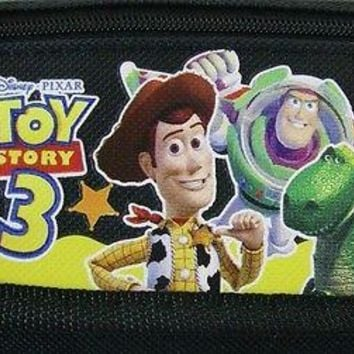 Disney Pixar Toy Story 3 Canvas Black Trifold Wallet