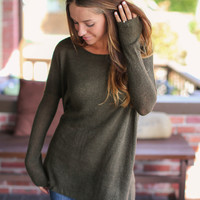 Piko Sweater - Dark Olive