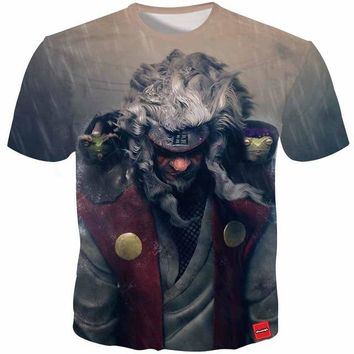Anime T-shirt graphics Cloudstyle Anime 3D Tshirts Men Naruto Jiraiya 3D Print Harajuku Cartoon Tee Shirt Fashion Summer Top Streetwear Plus Size 5XL AT_56_4