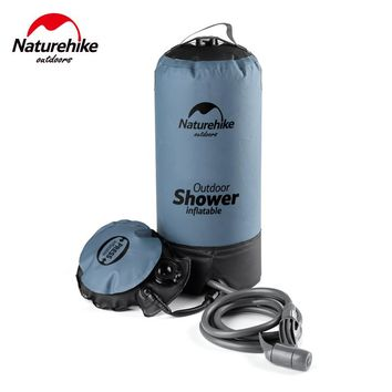 Naturehike New Arrival Outdoor Camping Shower 11L PVC Folding Inflatable Portable Water Storage Shower Bag Can Wash Car 980g