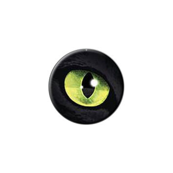 Cat Green Eye Lapel Hat Pin Tie Tack Small Round