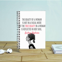 Audrey Hepburn Beauty Quotes Photo Notebook Auroid