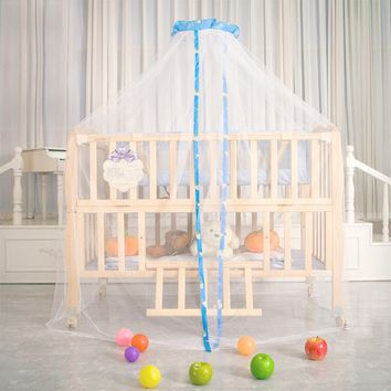 Mosquito Net Children Bed Crib Canopy Netting Fly Insect Protection Bed Outdoor Curtain Dome