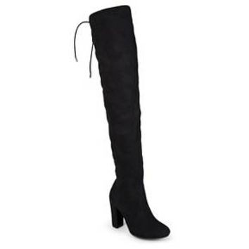 Women's Journee Collection Maya Faux Suede Over-The-Knee Boots : Target