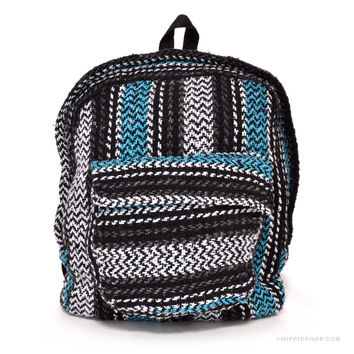 Mexican Baja Explorer Backpack Turquoise on Sale for $19.99 at The Hippie Shop