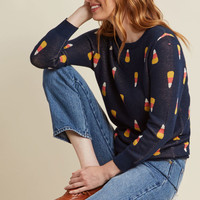 Candy Corn Intarsia Sweater
