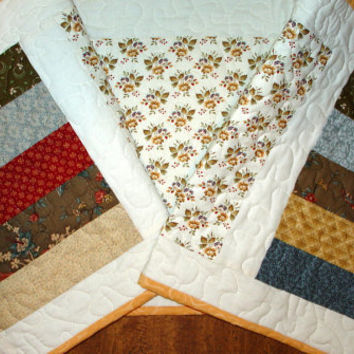 Spring Table Runner, 14 x 51 handmade, machine quilted, patchwork, multicolored, washable. Great for Mothers Day.