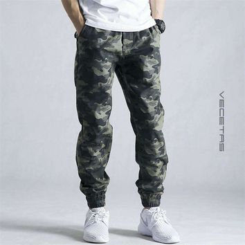Mens Jogger Pencil Harem Pants Mens Camouflage Pants Loose Comfortable Cargo Trousers Camo