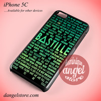 Bastille Lyrics Phone case for iPhone 5C and another iPhone devices