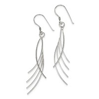 Sterling Silver Fancy Wire Dangle Earrings