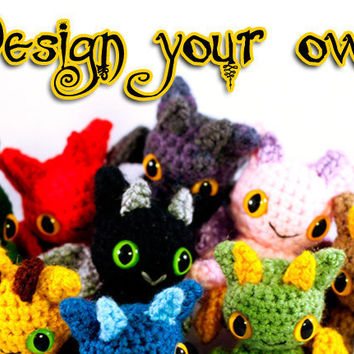 Design Your Own Dragon Amigurumi Plushie - Made To Order