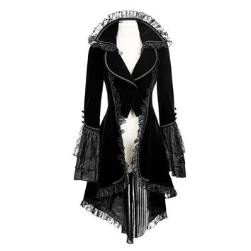 New Punk Rave Black gothic jacket Rock cosplay Kera Steampunk Sexy women Coat y622