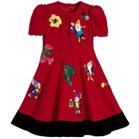 Girls Red Viscose 'Fairytale' Dress