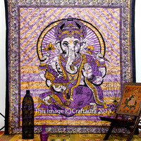 Queen Ganesh Bedspread, Hippie Tapestries, Wall Tapestries, Tapestry Wall Hanging, Tapestries, Indian Tapestry, Bedspread, Bohemian Bedding