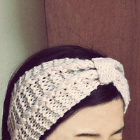 WINTER SPECIAL Knitted Headband, Knit Headband, Knit Beanie, Bow Beanie, Cute Bow Headband