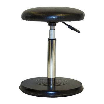 Kore Designs Everyday Faux-Leather Adjustable Counter Stool (Black)