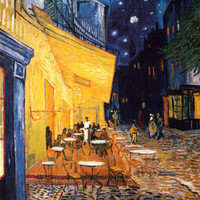 The Café Terrace on the Place du Forum, Arles, at Night, c.1888 Posters by Vincent van Gogh at AllPosters.com
