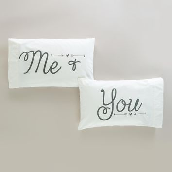 Me & You Pillowcases, Set of 2